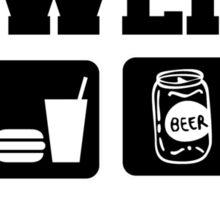 Eat Sleep Bowl Bowling T-Shirt Sticker