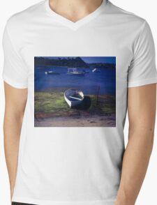 Boats on a lake Mens V-Neck T-Shirt