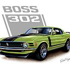 1970 Boss 302 Mustang in Grabber Green by davidkyte
