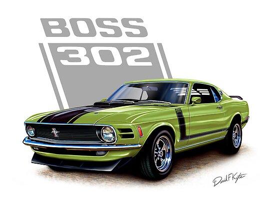 1970 Boss 302 Mustang in Grabber Green by davidkyte