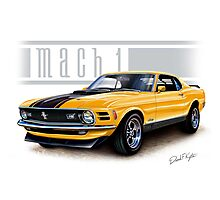 Mustang Mach 1 1970 in Grabber Orange Photographic Print