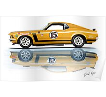 Trans Am Mustang 1970 Poster