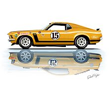 Trans Am Mustang 1970 Photographic Print
