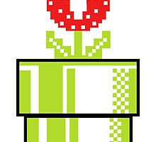 Piranha Plant Tube - Pixel Graphic T-Shirts (Cisco Ramone) by IECREATIVE