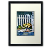Patio Flowers Framed Print