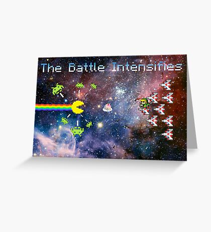 Video Games - The Battle Intensifies Greeting Card