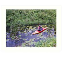 Kayaking up the Cuckmere Art Print