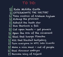 Villians busy 'to do' list by MrSaxon