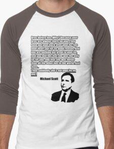 "Michael Scott ""Ho no mo"" Men's Baseball ¾ T-Shirt"