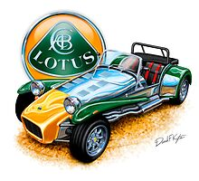 Lotus Super 7 in British Racing Green and Yellow by davidkyte