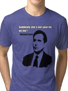 "Michael Scott ""Ho no mo"" Tri-blend T-Shirt"
