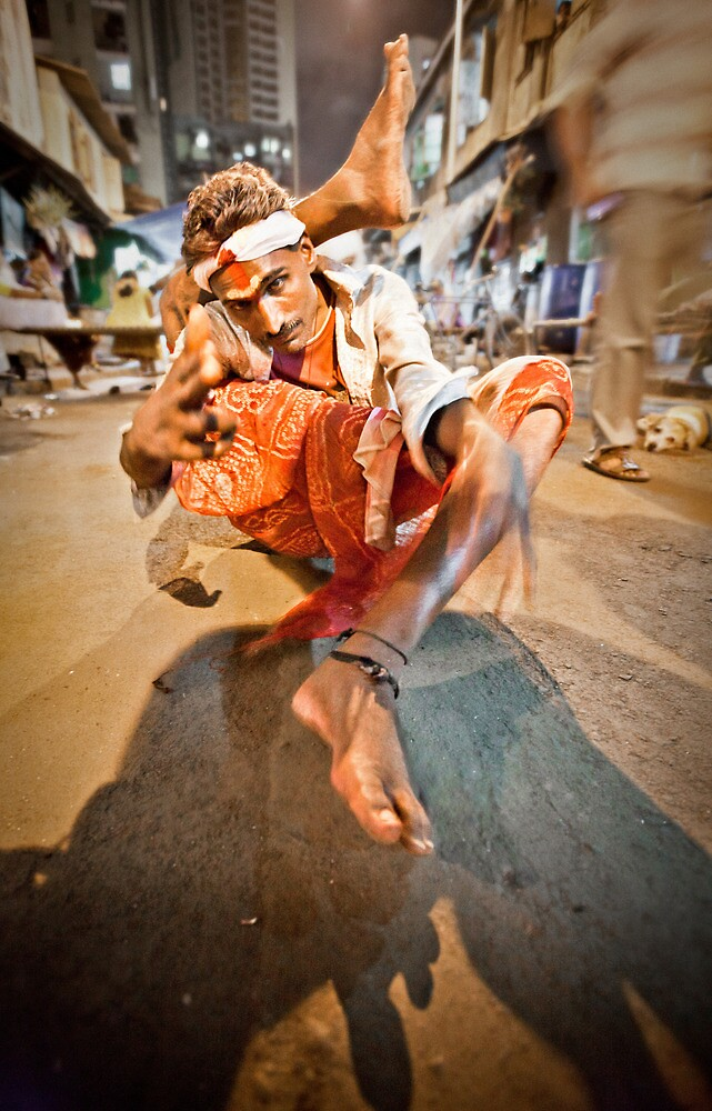 Performer, Red Light District Mumbai by Heather Buckley