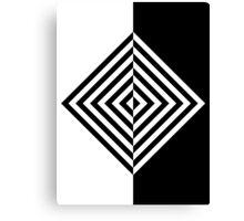 Concentric Black and White Diamonds Canvas Print