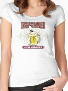 Instant Bowler Just  Add Beer Bowling T-Shirt Women's Fitted Scoop T-Shirt
