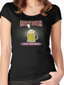 Instant Bowler Just Add Beer Bowling T-Shirt - Dark Women's Fitted Scoop T-Shirt