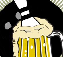 Drinking Beer & Scoring Bowling T-Shirt Sticker