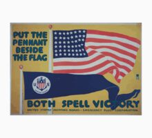 Put the pennant beside the flag Both spell victory United States Shipping Board Emergency Fleet Corporation Baby Tee
