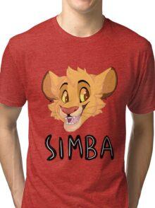 Simba- With Name Tri-blend T-Shirt