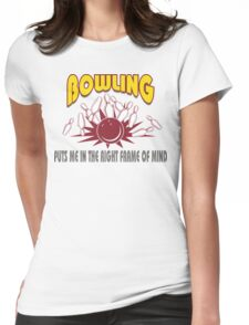 Funny Bowling T-Shirt Womens Fitted T-Shirt