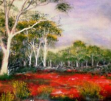 LANDSCAPE PAINTING NEAR COOLGARDIE, WA by ROSITA LLOYDE