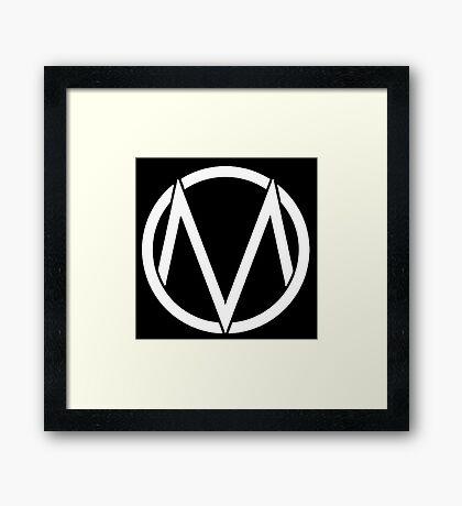 The Maine - Band  Logo White Framed Print