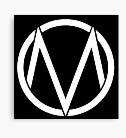 The Maine - Band  Logo White Canvas Print