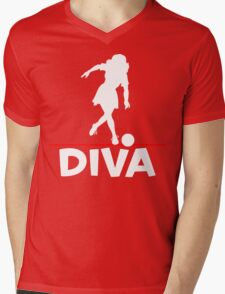 Bowling Diva T-Shirt Mens V-Neck T-Shirt