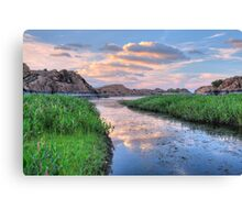 Banking Sunset Canvas Print