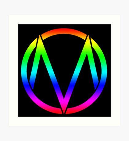 The Maine - Band  Logo Rainbow Art Print