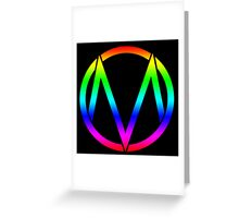 The Maine - Band  Logo Rainbow Greeting Card