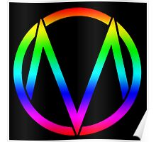 The Maine - Band  Logo Rainbow Poster