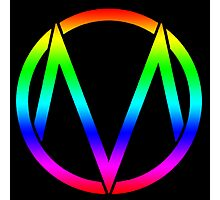 The Maine - Band  Logo Rainbow Photographic Print
