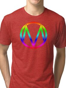 The Maine - Band  Logo Rainbow Tri-blend T-Shirt
