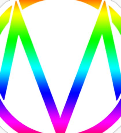The Maine - Band  Logo Rainbow Sticker