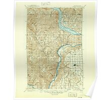 USGS Topo Map Washington State WA Chelan 240443 1901 125000 Poster