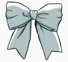 blue bow by marinapb