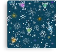 Colorful christmas pattern Canvas Print