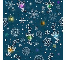 Colorful christmas pattern Photographic Print