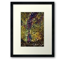 Inside The Volcano Framed Print
