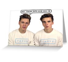 Joe Sugg Caspar Lee  You're Cute Greeting Card