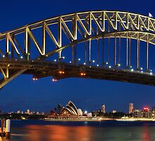 Sydney Harbour Bridge, New South Wales, Australia by Michael Boniwell