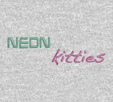 neon kitties... One Piece - Short Sleeve