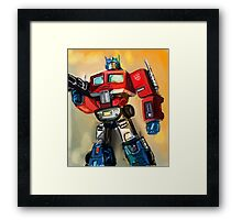 G1 OPTIMUS PRIME Framed Print