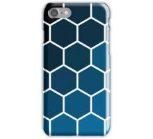 Blue Hexagons iPhone Case/Skin