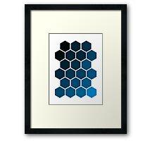 Blue Hexagons Framed Print