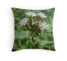 Backyard weeds Throw Pillow
