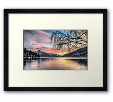 Sunset over Lake Wakatipu, Queenstown, New Zealand Framed Print