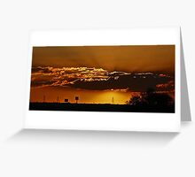 High Desert Sunset Greeting Card