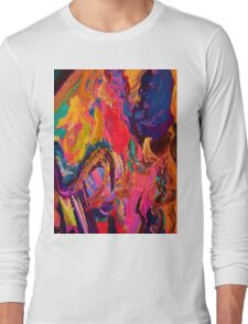 A Portrait of Color and Texture Long Sleeve T-Shirt