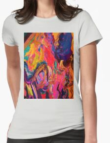 A Portrait of Color and Texture Womens Fitted T-Shirt